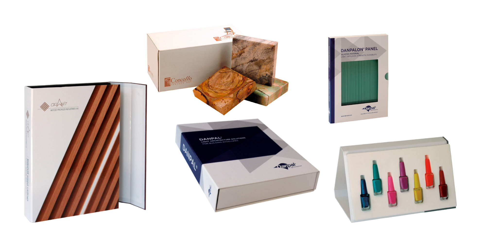 מארזים וקופסאות של דוגמאות ממותגות בהתאמה אישית עם מסגרות צורניות מקרטון קשיח דחוס, קרטון גלי, קרטון דופלקס, סגירת מגנטים, תיק דייר