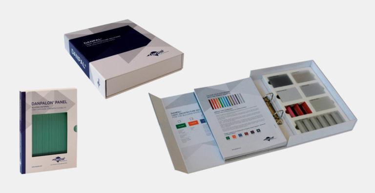 מארז קופסא קלסר ממותג בהתאמה אישית, מנגנון לקלסר עם מסגרת צורנית לדוגמאות, מקרטון קשיח דחוס, תיק דייר
