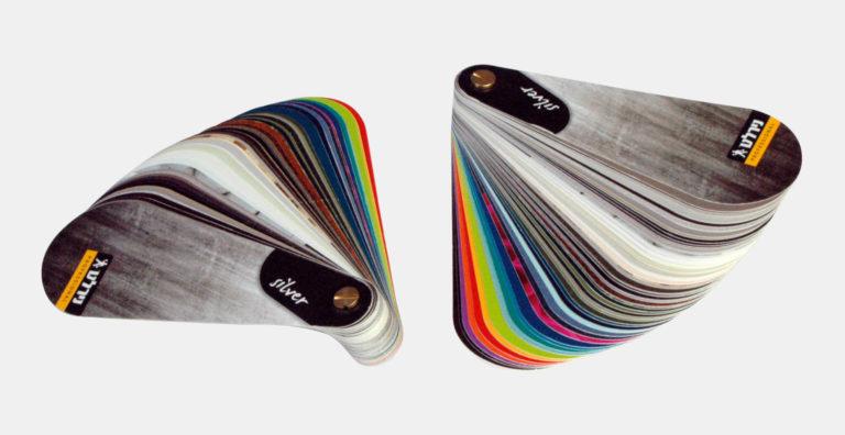 כריכות ממותגות בהתאמה אישית, חיתוך צורני עבור מניפת צבעים מפי וי סי מוקצף