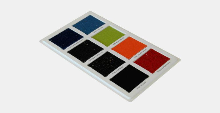 מסגרת עם הדפסה על המסגרת עבור דוגמאות שיש